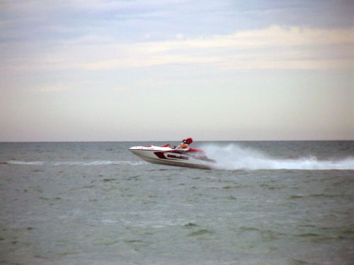 My son was zooming up and down the coast of Caladesi Island