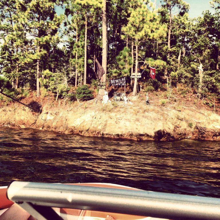 Pirate island, Lake Martin, AL