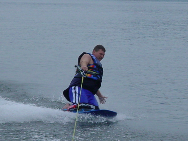 Kneeboarding at the River..