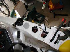 Near complete, 3 inch hole has been cut, wiring begun, start