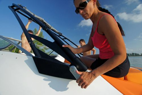 2011 Sea-Doo 230 SP Boat - Details Tower Release Lever.JPG