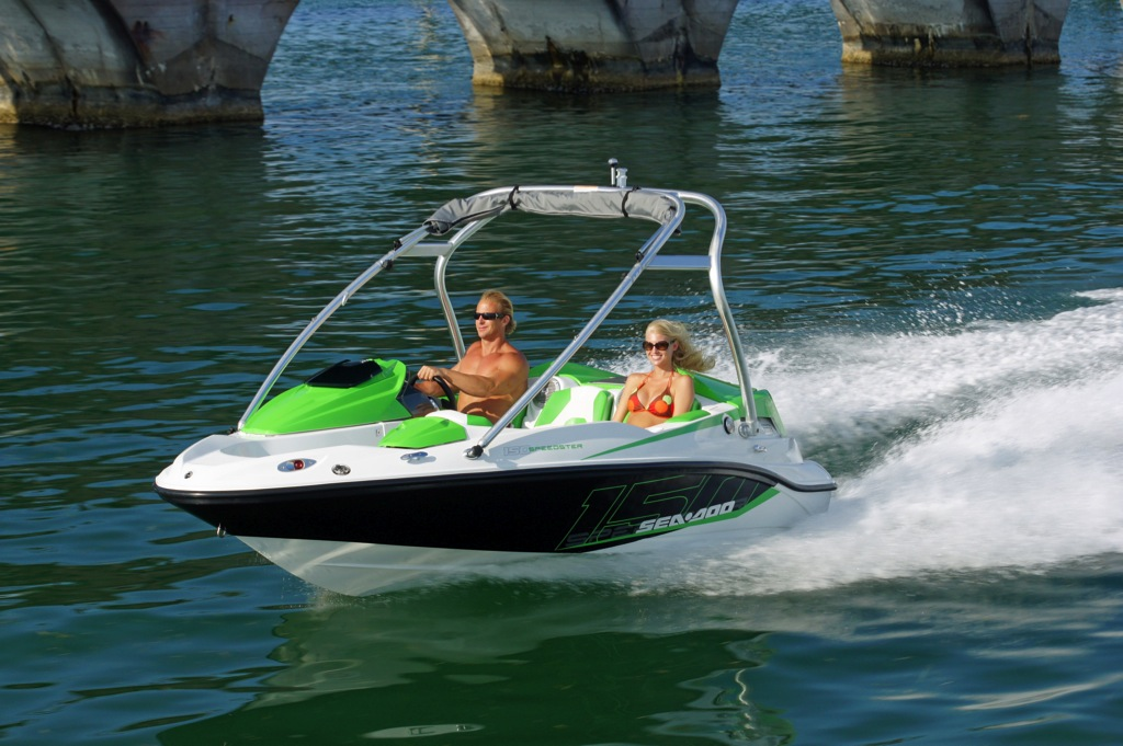 2012 Sea Doo 150 Speedster Boat   Action 5