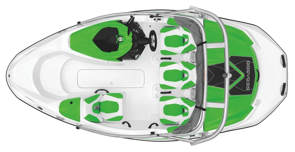 2012 Sea Doo 150 Speedster Boat Green   Studio   Top